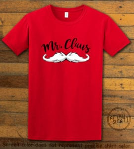 Mr. Claus Graphic T-Shirt - red shirt design