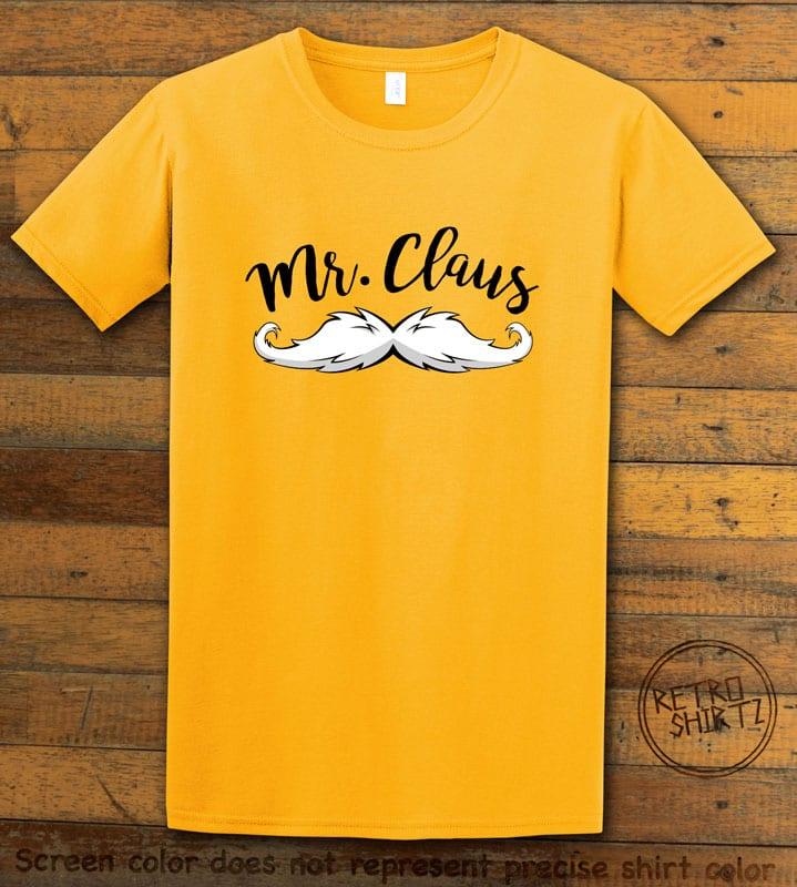 Mr. Claus Graphic T-Shirt - yellow shirt design