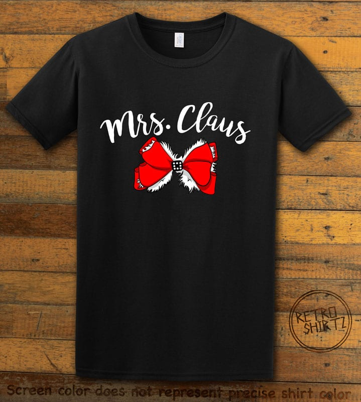 Mrs. Claus Graphic T-Shirt - black shirt design