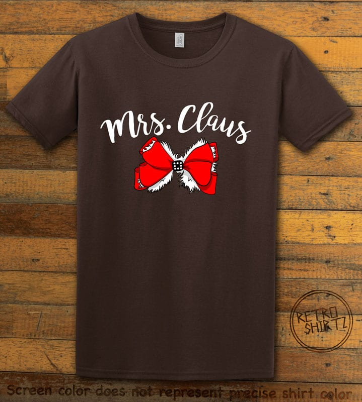 Mrs. Claus Graphic T-Shirt - brown shirt design