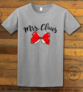 Mrs. Claus Graphic T-Shirt - grey shirt design