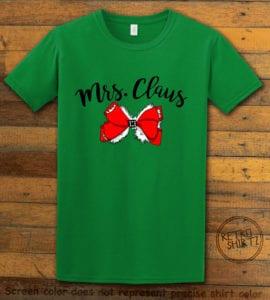 Mrs. Claus Graphic T-Shirt - green shirt design
