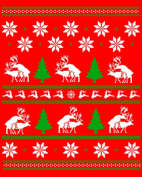 Humping Reindeer Graphic T-Shirt main vector design