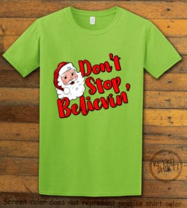 Don't Stop Believin' Graphic T-Shirt - lime shirt design