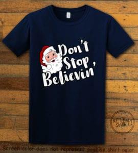 Don't Stop Believin' Graphic T-Shirt - navy shirt design