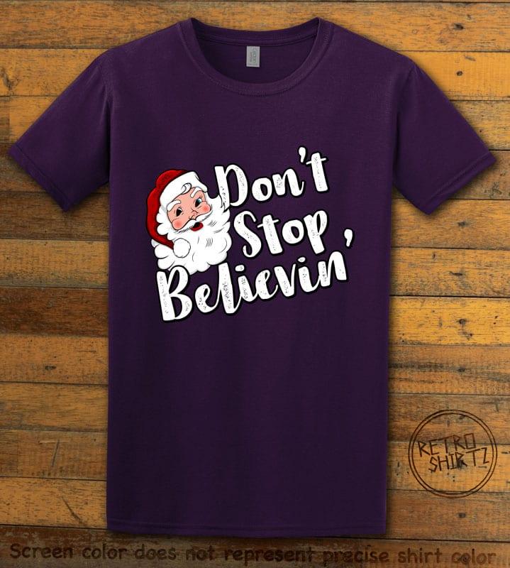 Don't Stop Believin' Graphic T-Shirt - purple shirt design
