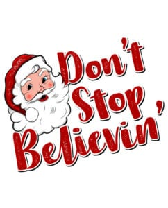 Don't Stop Believin' Graphic T-Shirt main vector