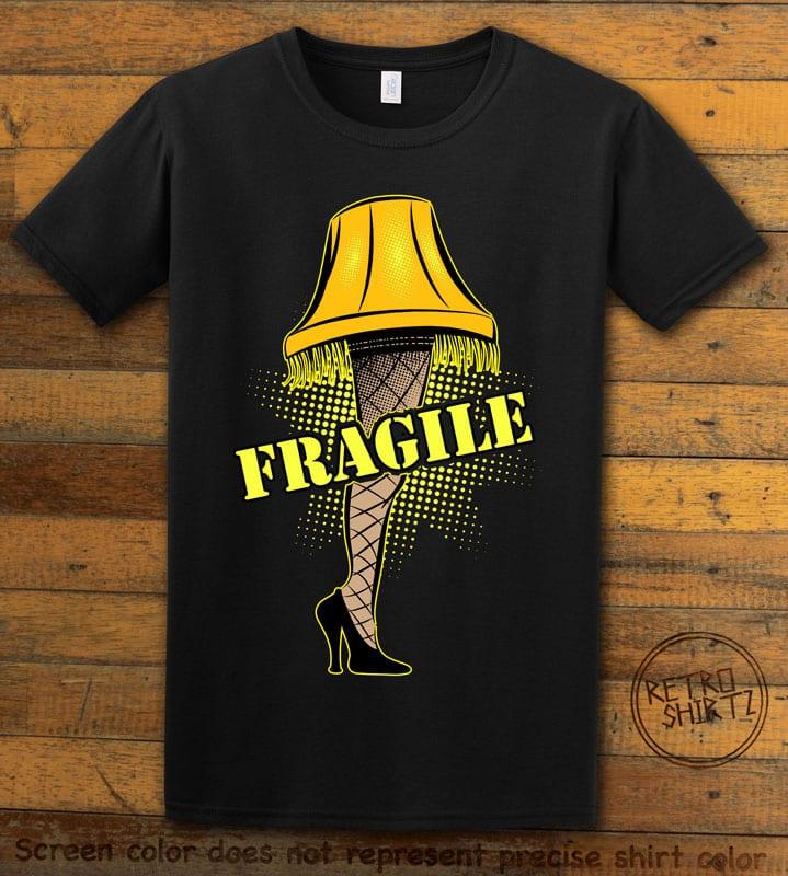 Fragile Graphic T-Shirt - black shirt design