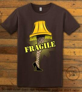 Fragile Graphic T-Shirt - brown shirt design