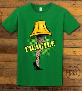 Fragile Graphic T-Shirt - green shirt design