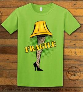 Fragile Graphic T-Shirt - lime shirt design
