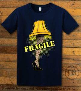 Fragile Graphic T-Shirt - navy shirt design