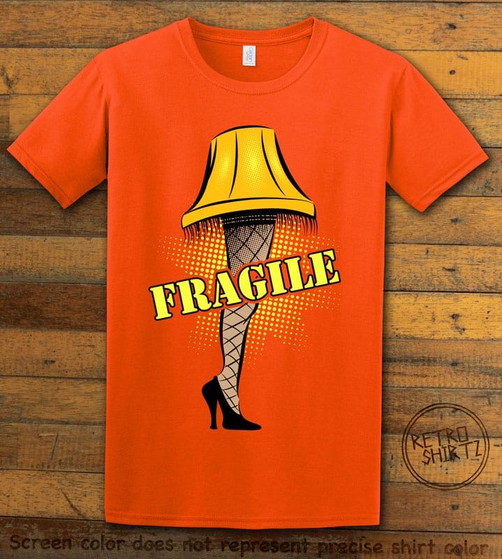 Fragile Graphic T-Shirt - orange shirt design