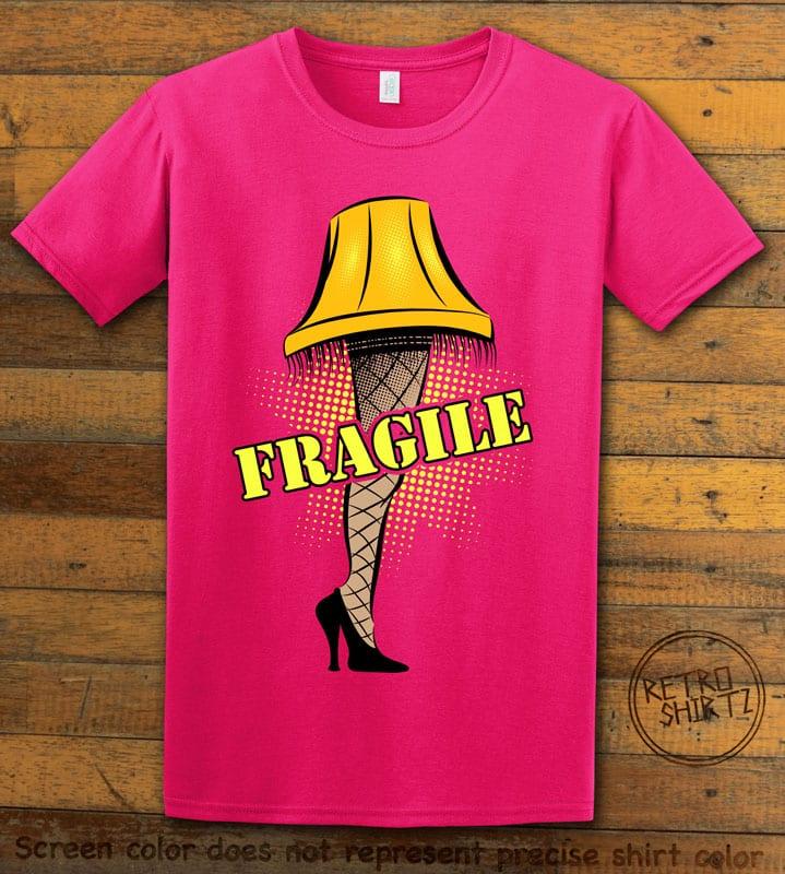 Fragile Graphic T-Shirt - pink shirt design
