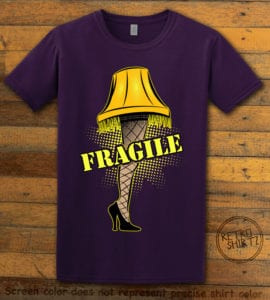 Fragile Graphic T-Shirt - purple shirt design