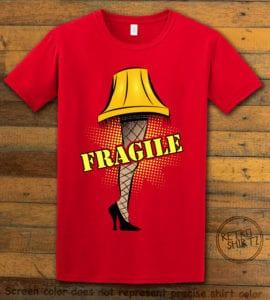 Fragile Graphic T-Shirt - red shirt design
