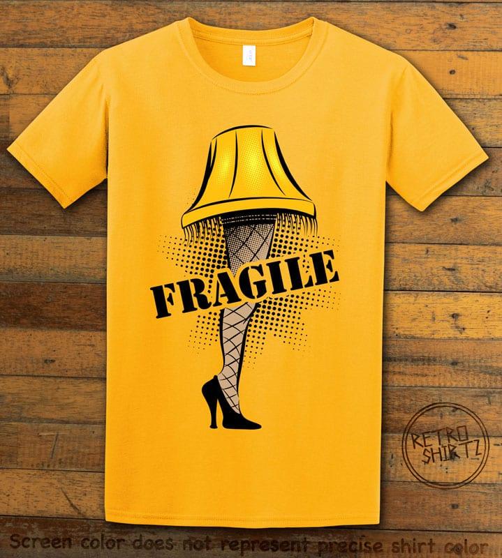 Fragile Graphic T-Shirt - yellow shirt design
