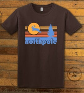 The North Pole Graphic T-Shirt - brown shirt design