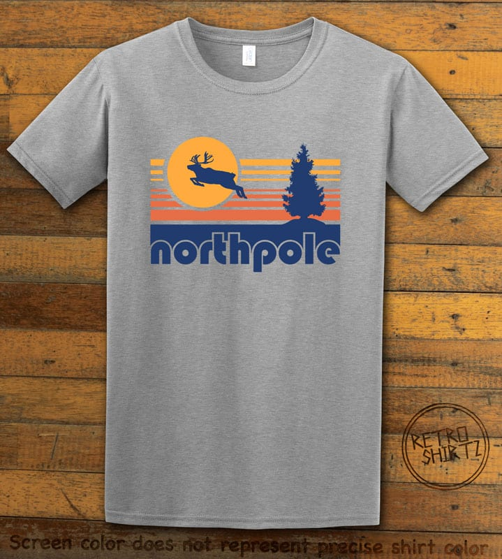 The North Pole Graphic T-Shirt - grey shirt design