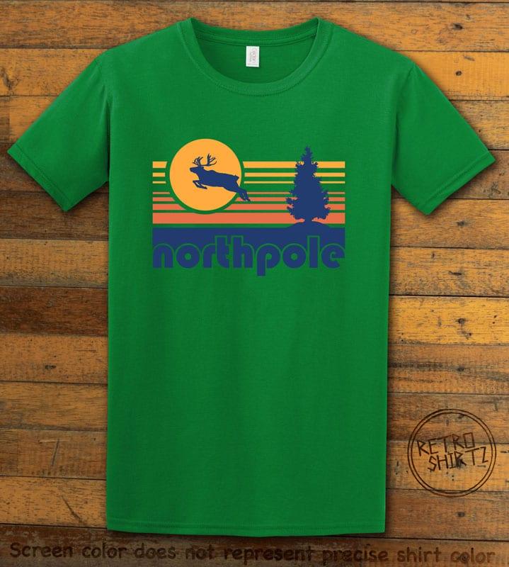 The North Pole Graphic T-Shirt - green shirt design