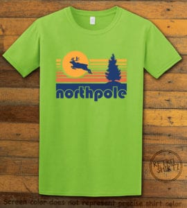 The North Pole Graphic T-Shirt - lime shirt design