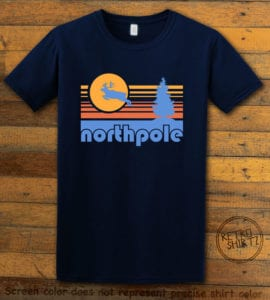 The North Pole Graphic T-Shirt - navy shirt design