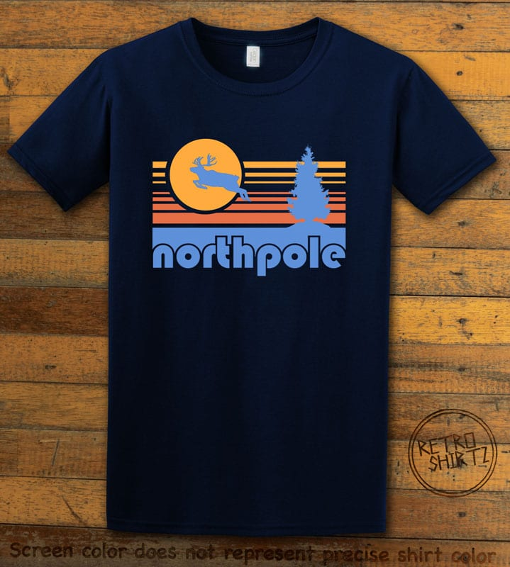 The North Pole Graphic T-Shirt - navy shirt design