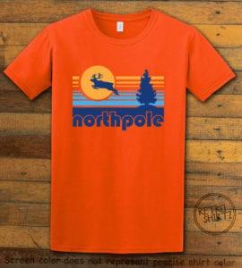 The North Pole Graphic T-Shirt - orange shirt design