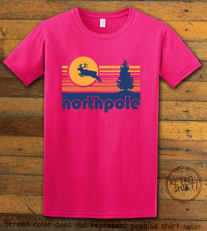 The North Pole Graphic T-Shirt - pink shirt design