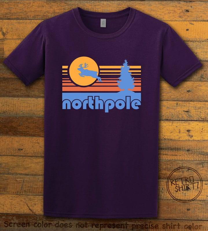 The North Pole Graphic T-Shirt - purple shirt design
