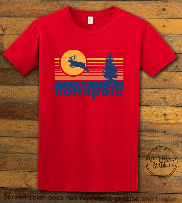 The North Pole Graphic T-Shirt - red shirt design