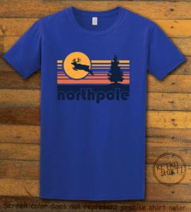 The North Pole Graphic T-Shirt - royal shirt design
