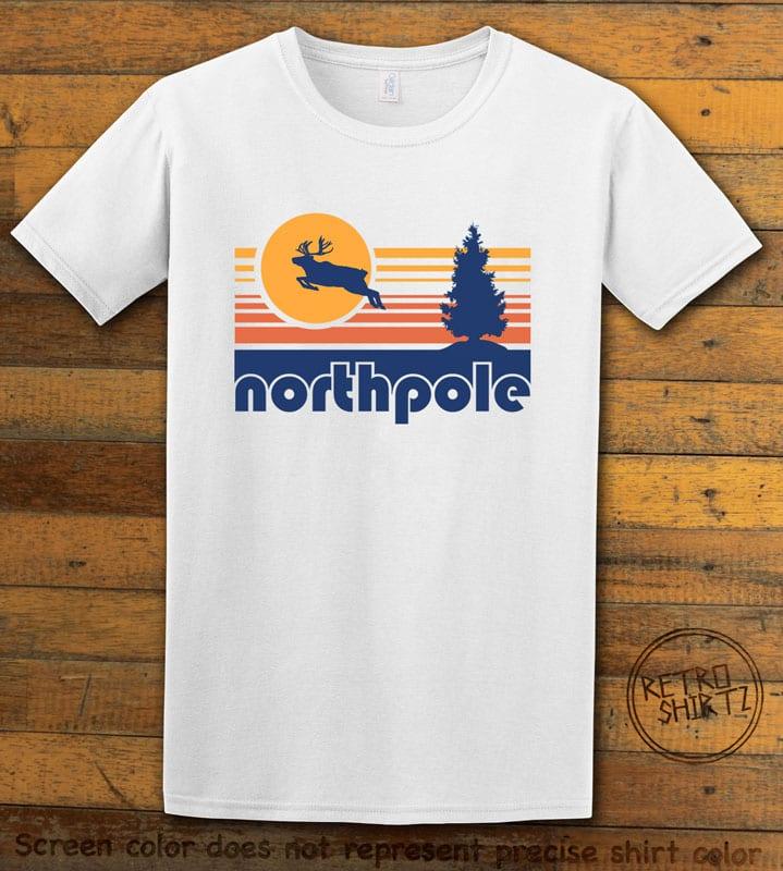 The North Pole Graphic T-Shirt - white shirt design