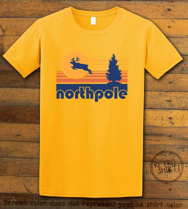 The North Pole Graphic T-Shirt - yellow shirt design