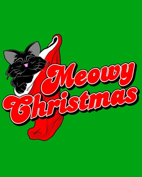 Meowy Christmas Graphic T-Shirt main vector