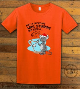 Stirring Mouse Graphic T-Shirt - orange shirt design