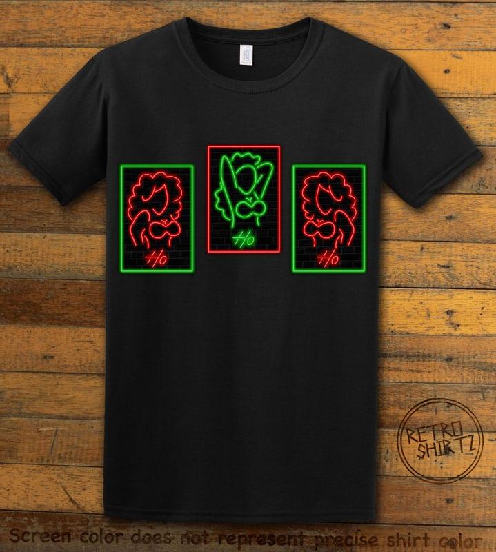 HO HO HO Neon Graphic T-Shirt - black shirt design