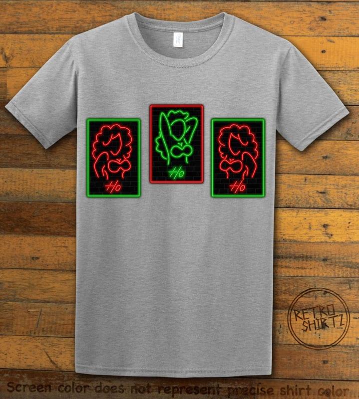 HO HO HO Neon Graphic T-Shirt - grey shirt design