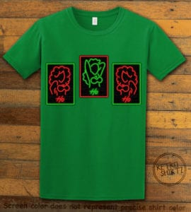 HO HO HO Neon Graphic T-Shirt - green shirt design