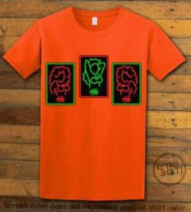 HO HO HO Neon Graphic T-Shirt - orange shirt design