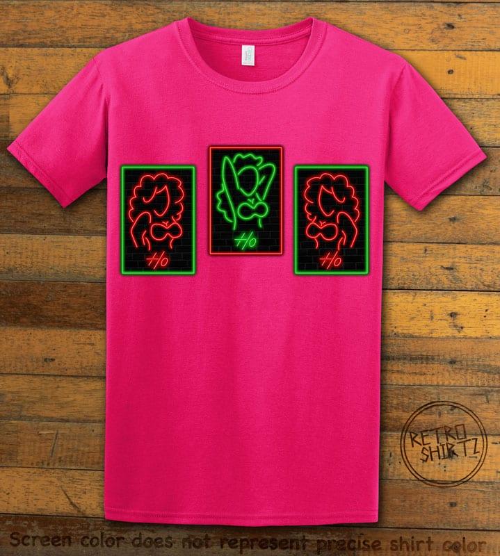 HO HO HO Neon Graphic T-Shirt - pink shirt design