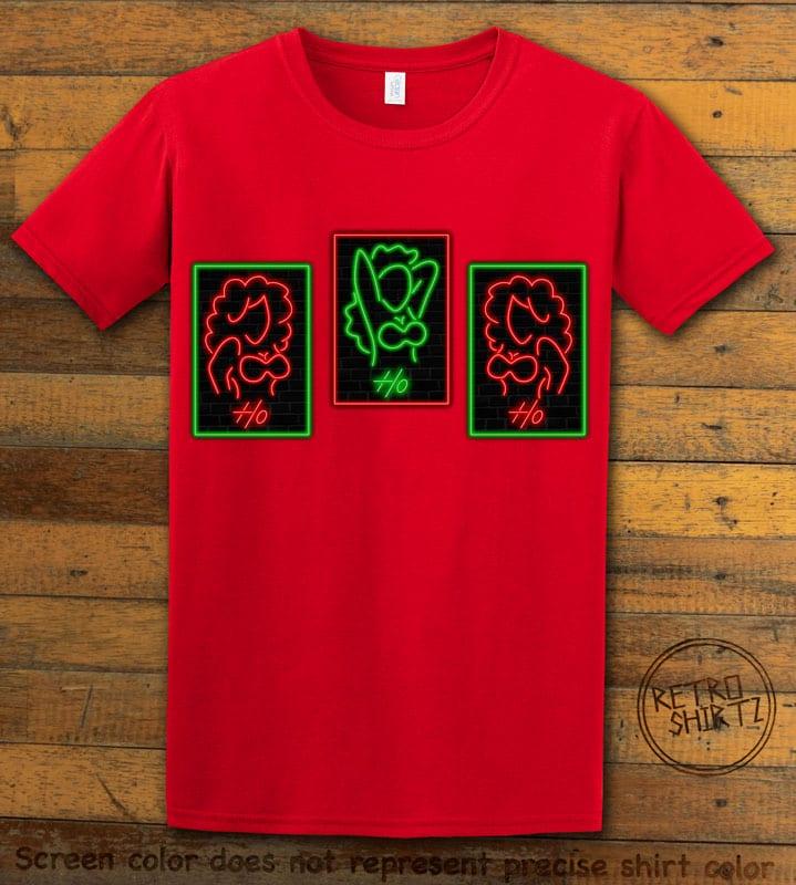HO HO HO Neon Graphic T-Shirt - red shirt design