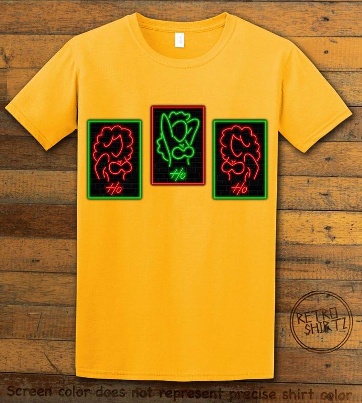 HO HO HO Neon Graphic T-Shirt - yellow shirt design
