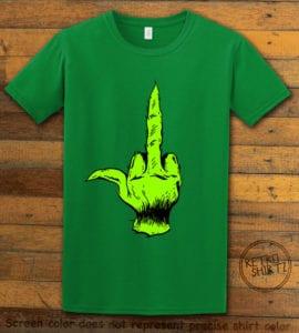 Grinch Middle Finger Graphic T-Shirt - green shirt design