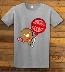 Christmas Calories Don't Count Graphic T-Shirt - grey shirt design