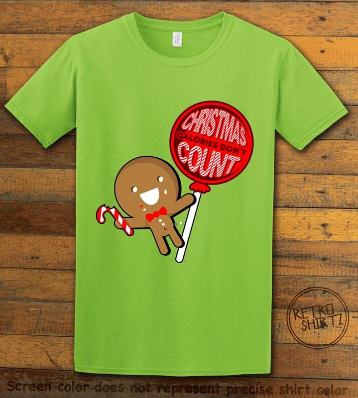 Christmas Calories Don't Count Graphic T-Shirt - lime shirt design