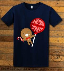 Christmas Calories Don't Count Graphic T-Shirt - navy shirt design