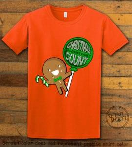 Christmas Calories Don't Count Graphic T-Shirt - orange shirt design