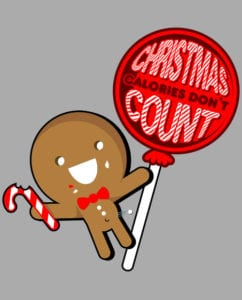 Christmas Calories Don't Count Graphic T-Shirt main vector