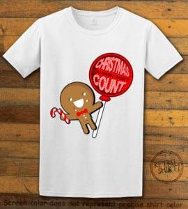 Christmas Calories Don't Count Graphic T-Shirt - white shirt design